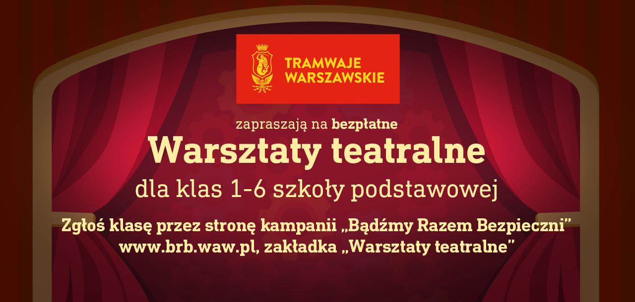 """Ruszają Interaktywne Warsztaty Teatralne """"TAJEMNICA TRAMWAJU"""""""